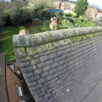 Defective ridge: Building survey roof example