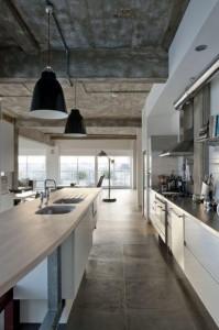 Concrete kitchen: Building survey kitchen example