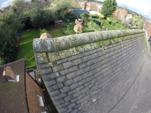 Defective ridge: Building survey roof example