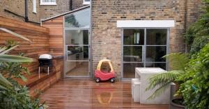 Wet terrace decking: Building survey terrace example