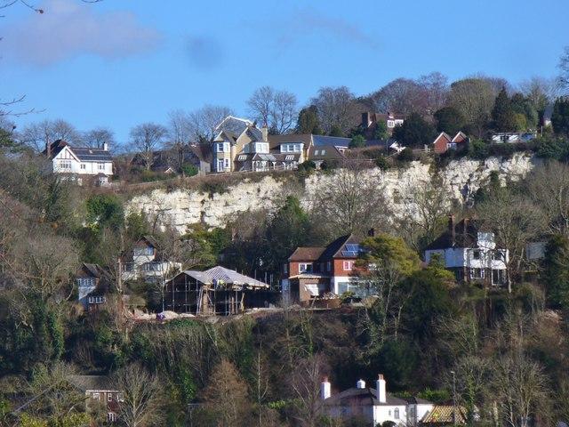 Houses near Wey Gap
